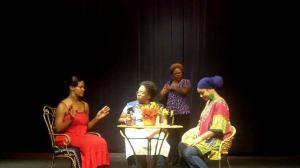 A scene from HHP's original stage play, FOUR WOMEN.