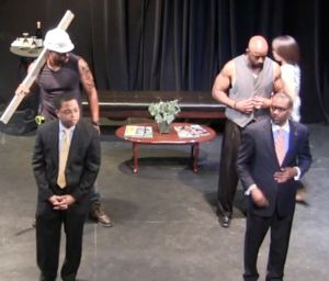 A scene from HHP's original production The Man Store
